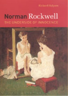 Famous Norman Rockwell portrait of a young girl comparing herself to Jane Russell.