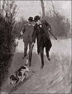 Watson and Holmes on the trail.