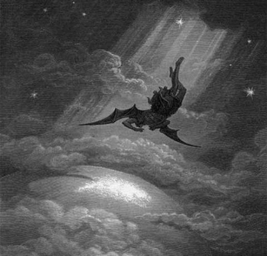 Lucifer. Falling to Earth, from Heaven