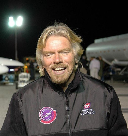 Sir Richard Branson. Source Wikimedia Commons.