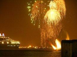 New Years Cruise and New Years Eve fireworks in the Harbor