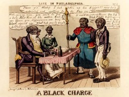 Edward Williams Clay  A Black Charge From the series Life in Philadelphia Colored engraving c.1828