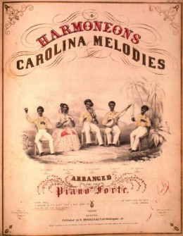 Illustrator n.a. Harmoneons Carolina Minstrels Sheet music cover Published in 1845