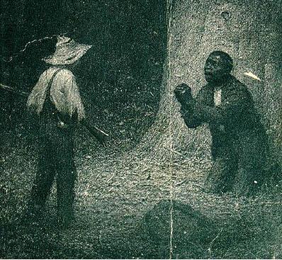 Worth Brehm (1883-1928)  Jim encounters Huck  Huckleberry Finn Harper and Brothers Edition,1923 Lithograph circa. 1923