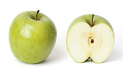 Ripe Granny Smith Apples