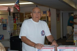 This is Bill.  He's pretty much an all-around guy.  He helps load and unload packages for the post office and incoming donations.  He helps out wherever we need help.