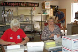 Jo packs and does customs forms.  Judy is the packing center director.  She's more or less in charge of all of us, but there really is no hierarchy down here.  We all just do our thing.