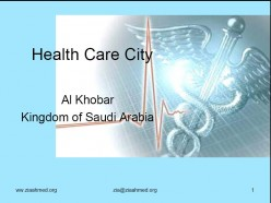Saudi Healthcare City - Feasibility Report and Project Appraisal Report