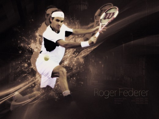 ROGER FEDERER - On Fire -Best Wallpaper Collections