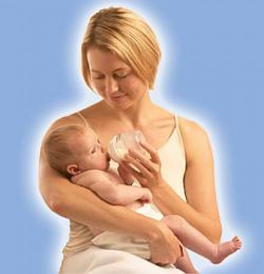 Baby Feeding Mother's Milk