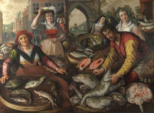 """Four Elements: Water"" by Joachim Beuckelaer.  Photo source: Wikimedia."