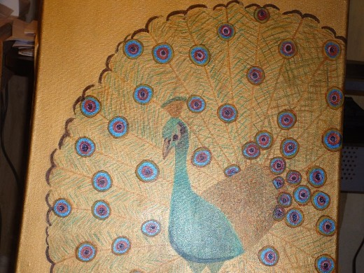 This is another one of my original paintings,Proud Peacock, it doesn't have any anything to do my delicious peanut butter fiber cookies.