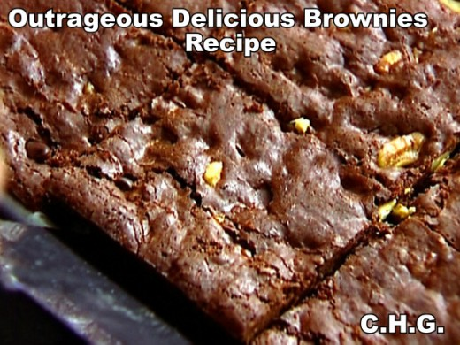 This is a brownie just like Grandma or Mom used to make for you.