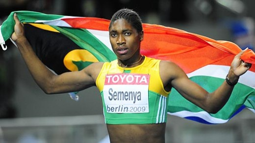 Caster after winning gold