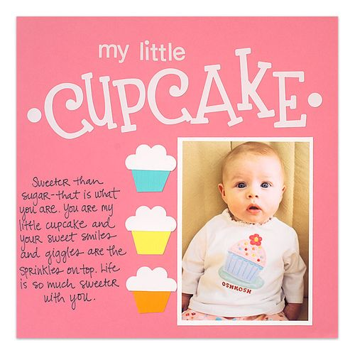 A really cute example of a scrapbook page made with basic supplies.