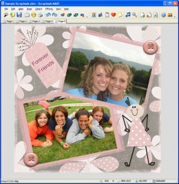 Digital scrapbooking software is easy to use.
