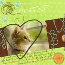 A great example of a digital scrapbook page.