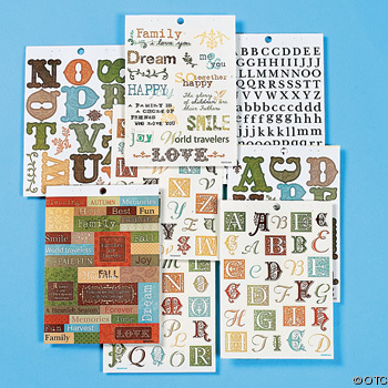 With so many colors and styles, scrapbook sticker choices are infinite!
