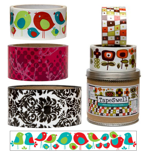 Decorative tape is great for adding color to your scrapbook page!