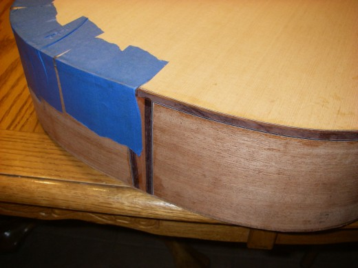 I am very proud so far of how the binding is fitting together with the tailpiece.