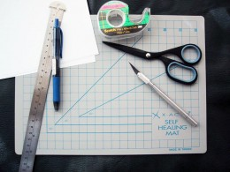 A cutting mat, ruler and craft knife are always handy!