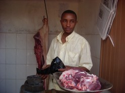 One of the butchers at the market