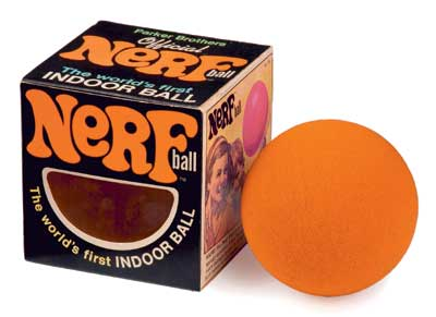 NERF Ball The worlds first indoor ball.