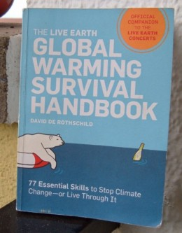 My copy of The Live Earth Global Warming Survival Handbook