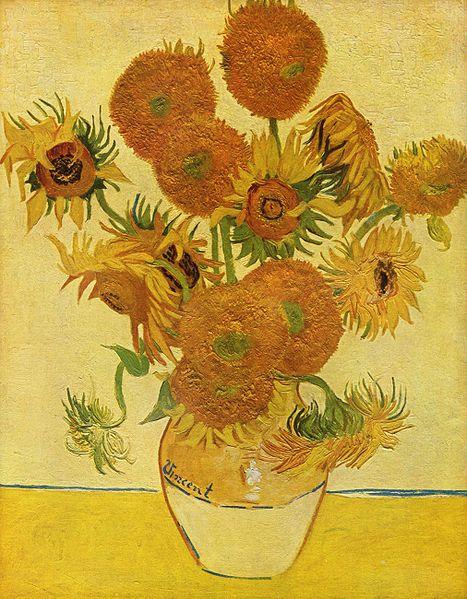 """Vincent Van Gogh's """"Sunflowers"""""""