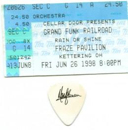 Ticket and guitar pick.  Fraze Pavilion concert 1998