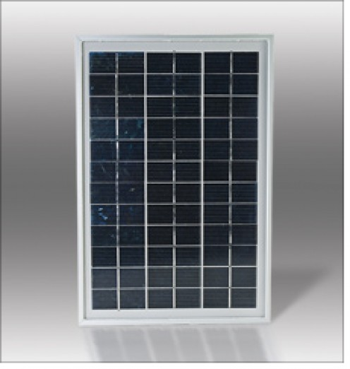 Here is a basic 5 to 10 watt solar panel that can be used to charge a battery or run a small appliance.