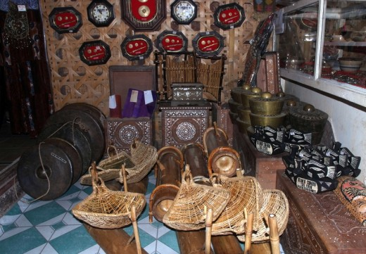Indigenous artifacts made by T'boli Tribe of the Philippines.