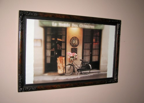 Antique frame with new print