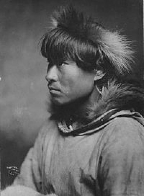 Indigenous, King Island in the Bering Strait, 1900.