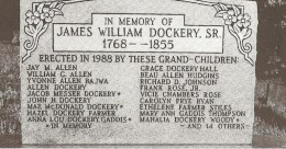 The headstone of James William Dockery
