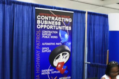 Think of it this way...Corporations pay the Job Fairs for a booth area and send recruiting staff to meet with you.