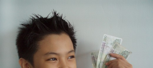 A boy with some cash.  (Photo model: Lance Mykel Yu)
