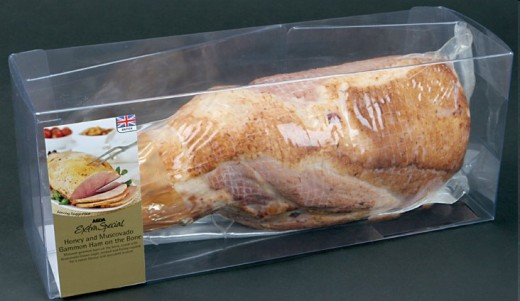 An Asda Ham. Do we really need a plastic box around an already packaged ham?