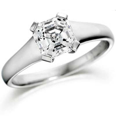asscher diamond rings for weddings