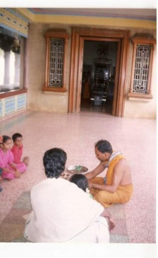 Modern jain temple at Hombuja(Humcha),Shimoga ditrict, karnataka state.Front hall and inner sanctorum are seen