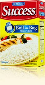 five minute bags of rice are fast and easy