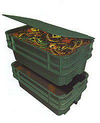 Rubber or Plastic Worm Composting Bins