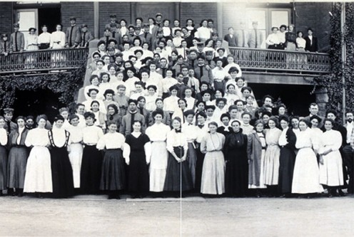 Arizona State University students in 1908