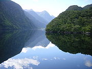 Doubtful Sound, Fiordland, New Zealand, part of the Southern Lakes region ,famous for fishing and fjords..short drive from Queenstown New Zealand