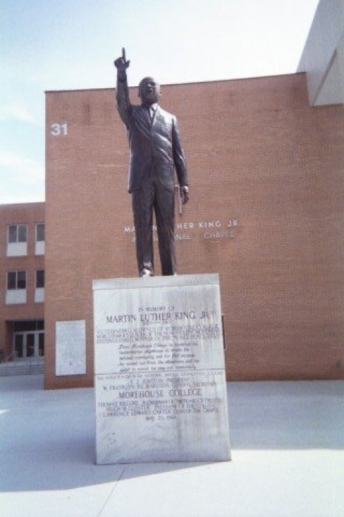 Martin Luther King Jr. located in front of Martin Luther King International Chapel, Morehouse College.