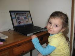 Computer lovin' preschooler.