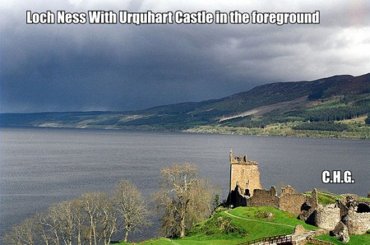 Here is a photo of part of Loch Ness where Nessie is said to live. And where she has been spotted for centuries.