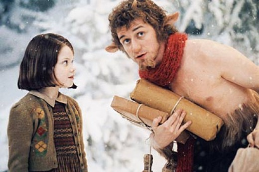 Lucy and Tumnus from the movie, Chronicles of Narnia: The Lion, the Witch, and the Wardrobe