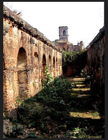Stable of a dilapidated palace.