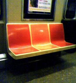 Subway seats / Photo by E. A. Wright 2009